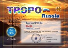 Tropo Russia 432 70 Award